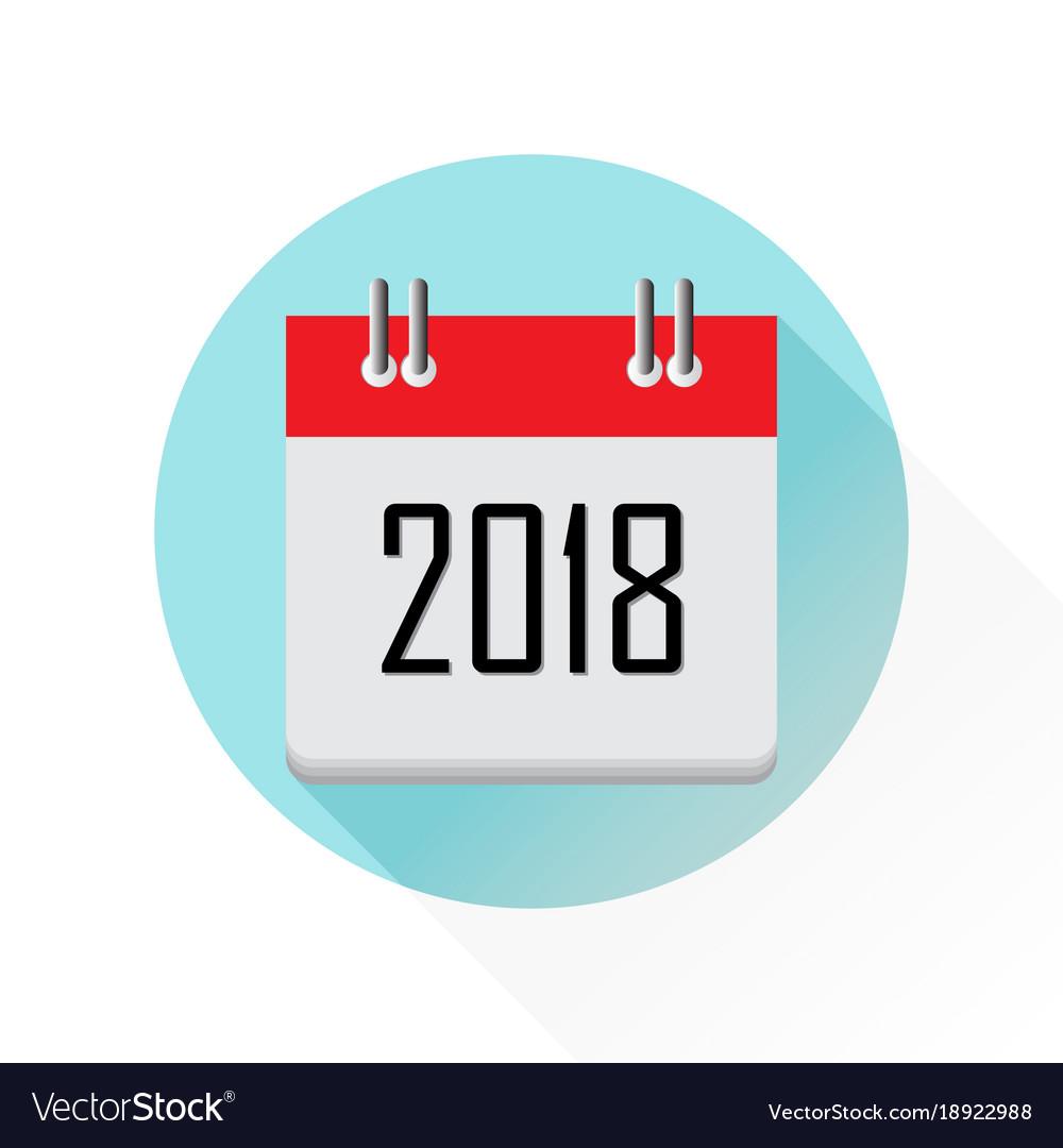 2018 calendar icon royalty free vector image vectorstock
