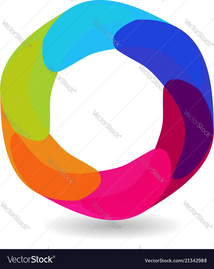 Abstract circle with different shades of circle