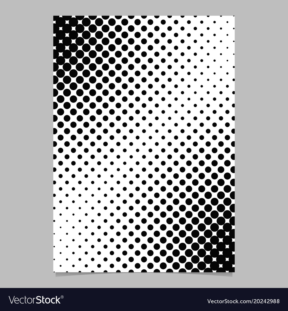 Abstract geometric halftone dot pattern brochure vector image