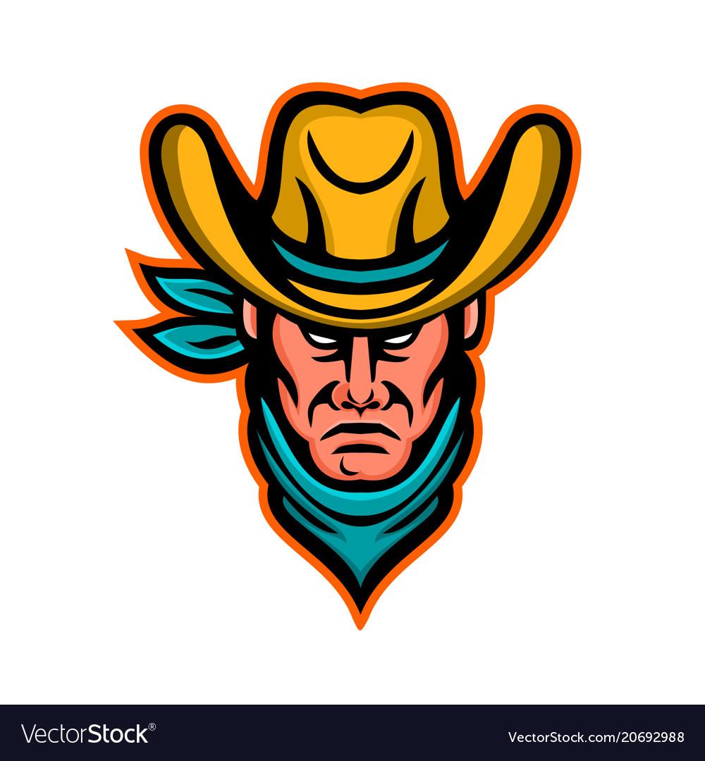 American cowboy sports mascot