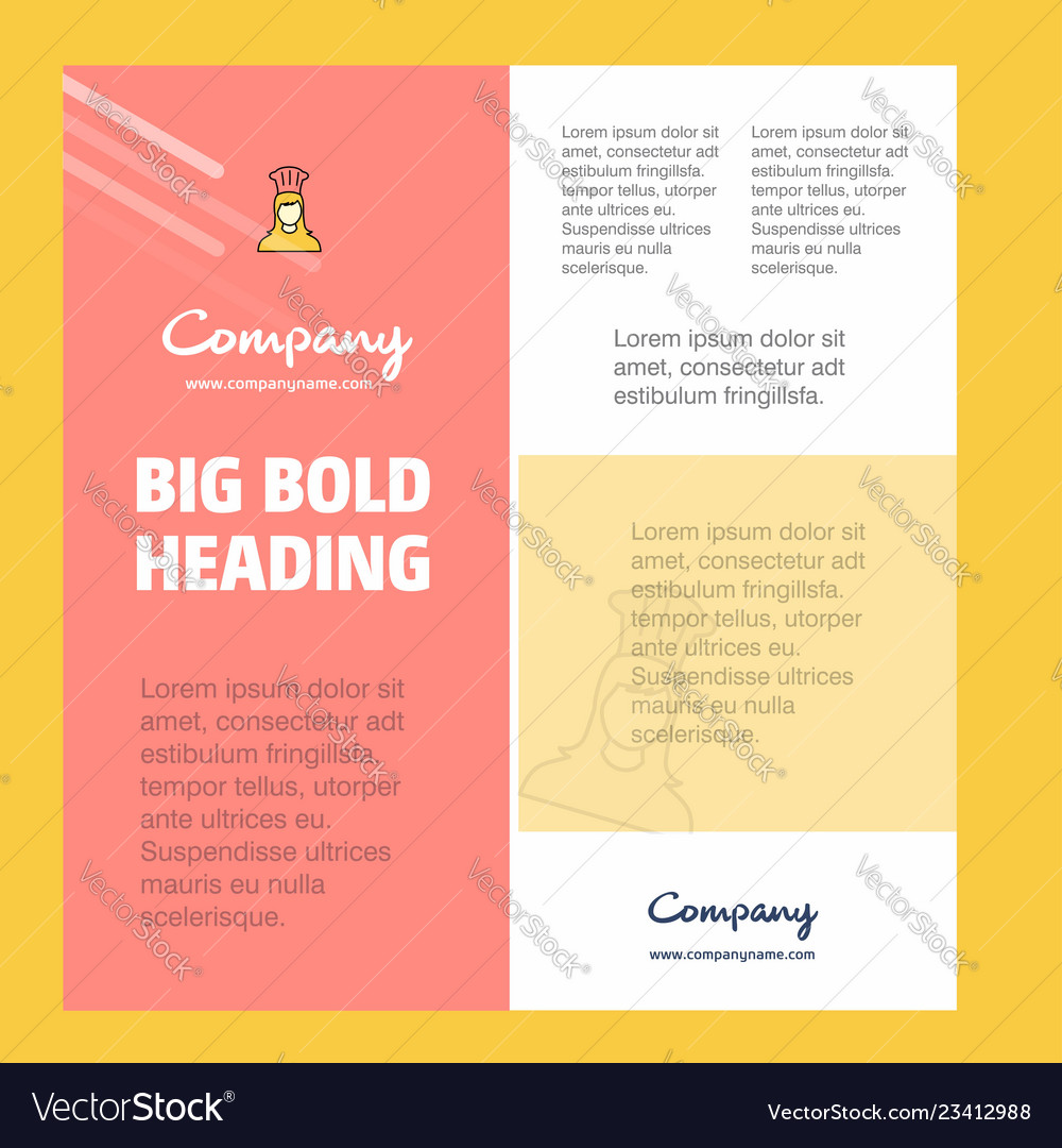 Chef business company poster template with place vector image