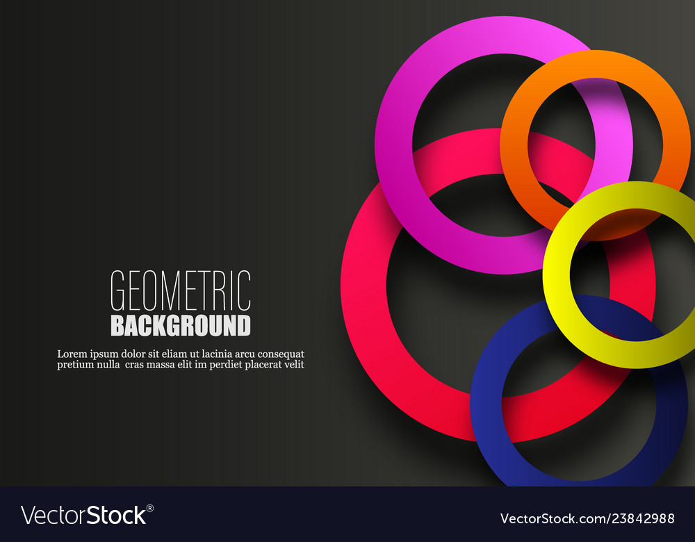 Circle geometric abstract background colorful