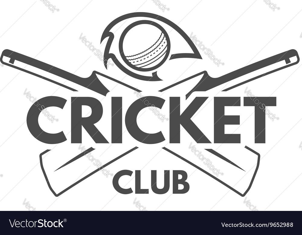 Cricket team emblem and design elements