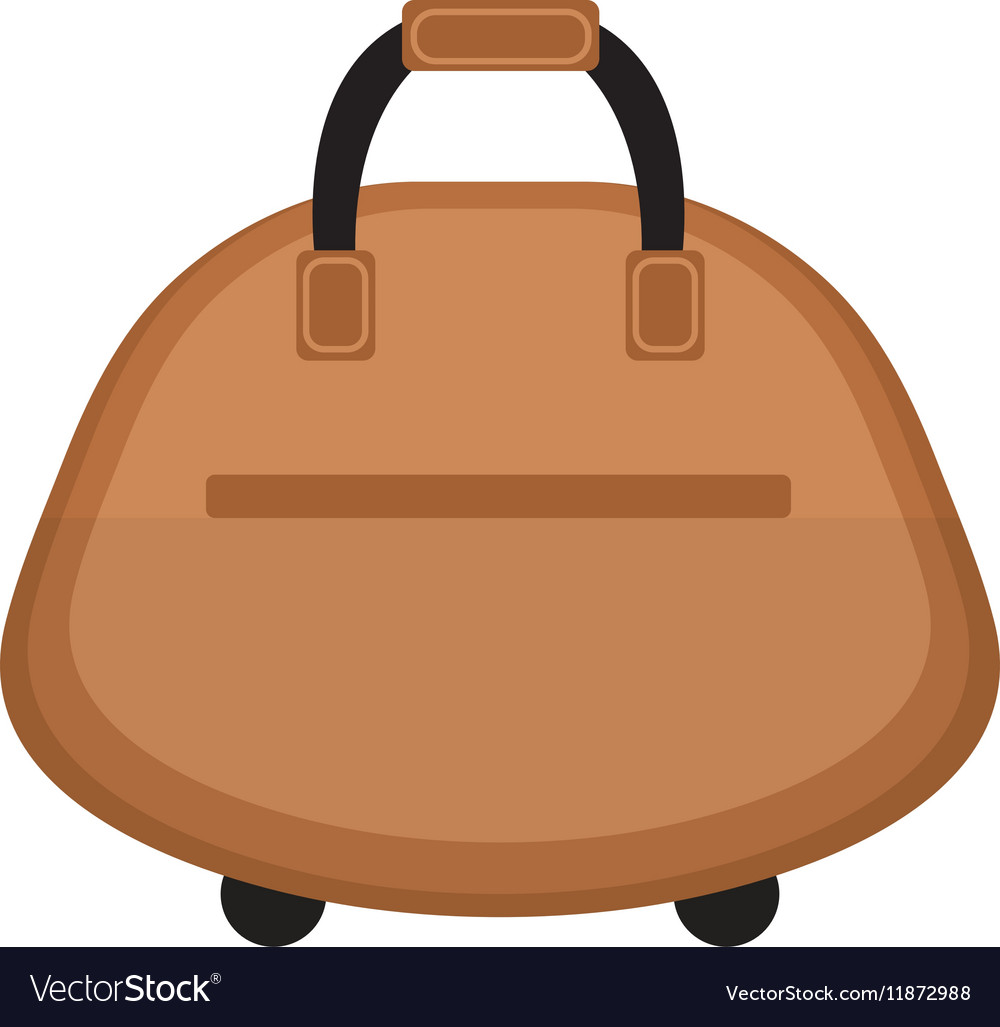 Female travel bag icon flat style Women isolated