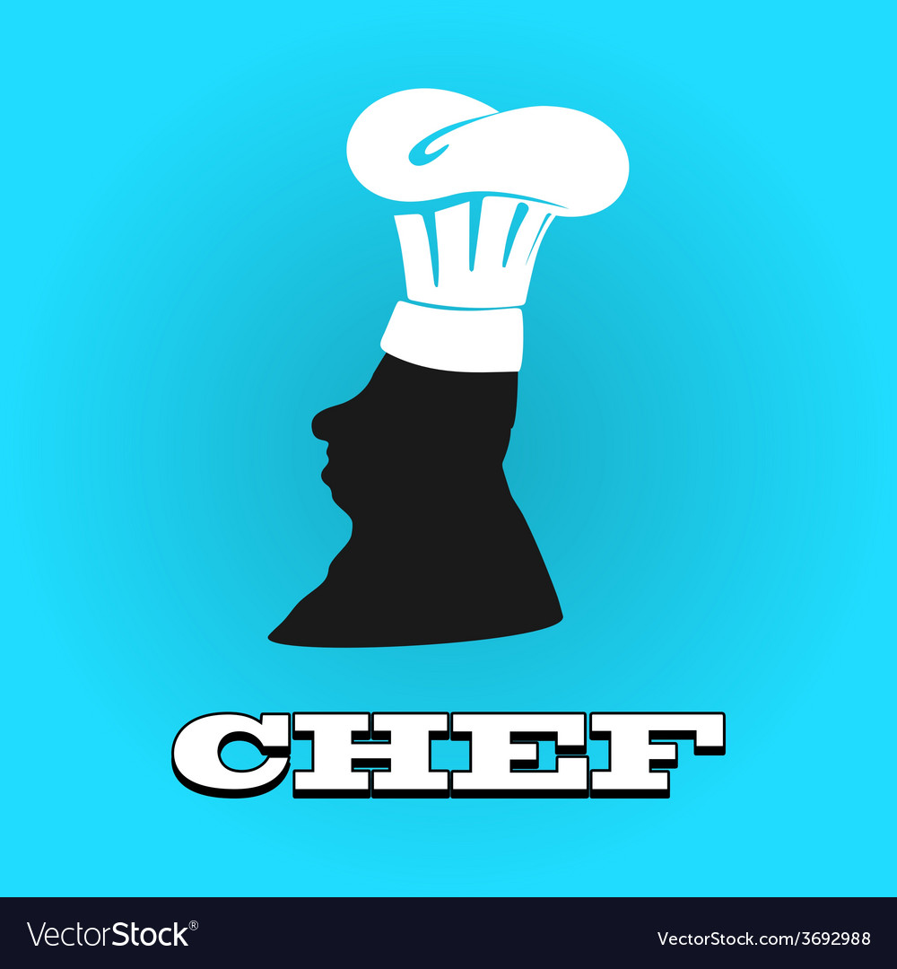 Flat silhouette chef hat icon