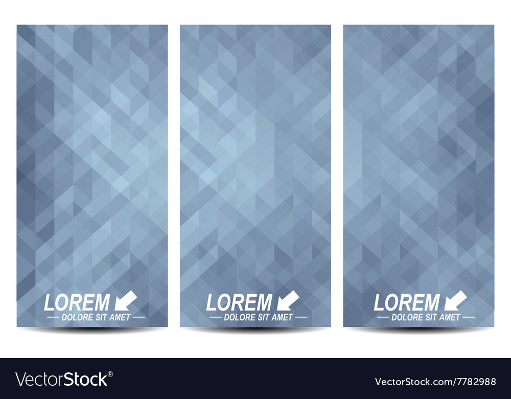 grey set of flyers background with gray royalty free vector