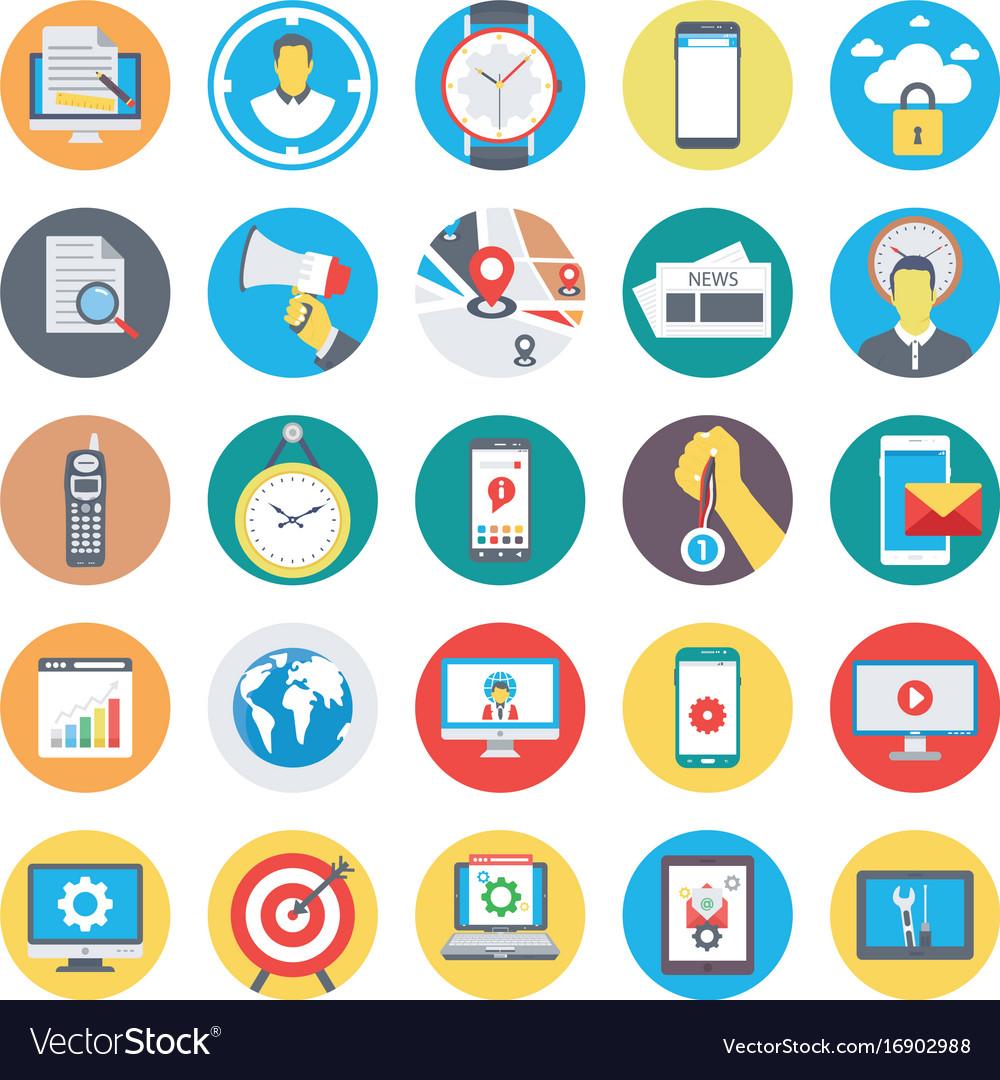 Seo and marketing flat circular icons 2