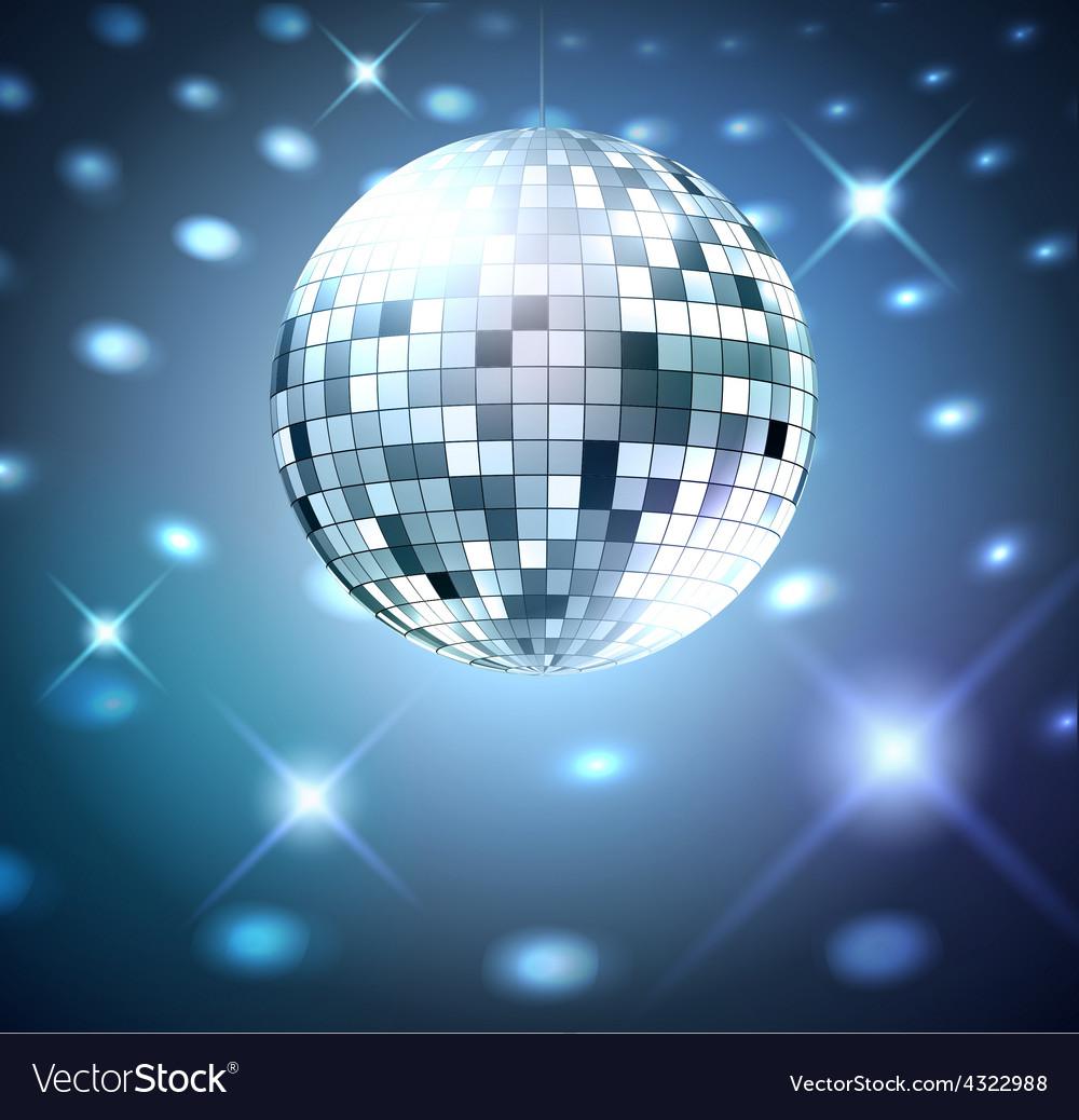 silver disco bal royalty free vector image vectorstock