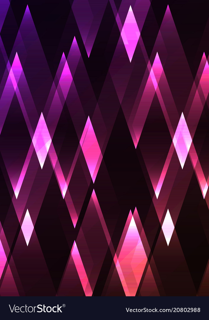 Spinel fractal crystal shine abstract vector image