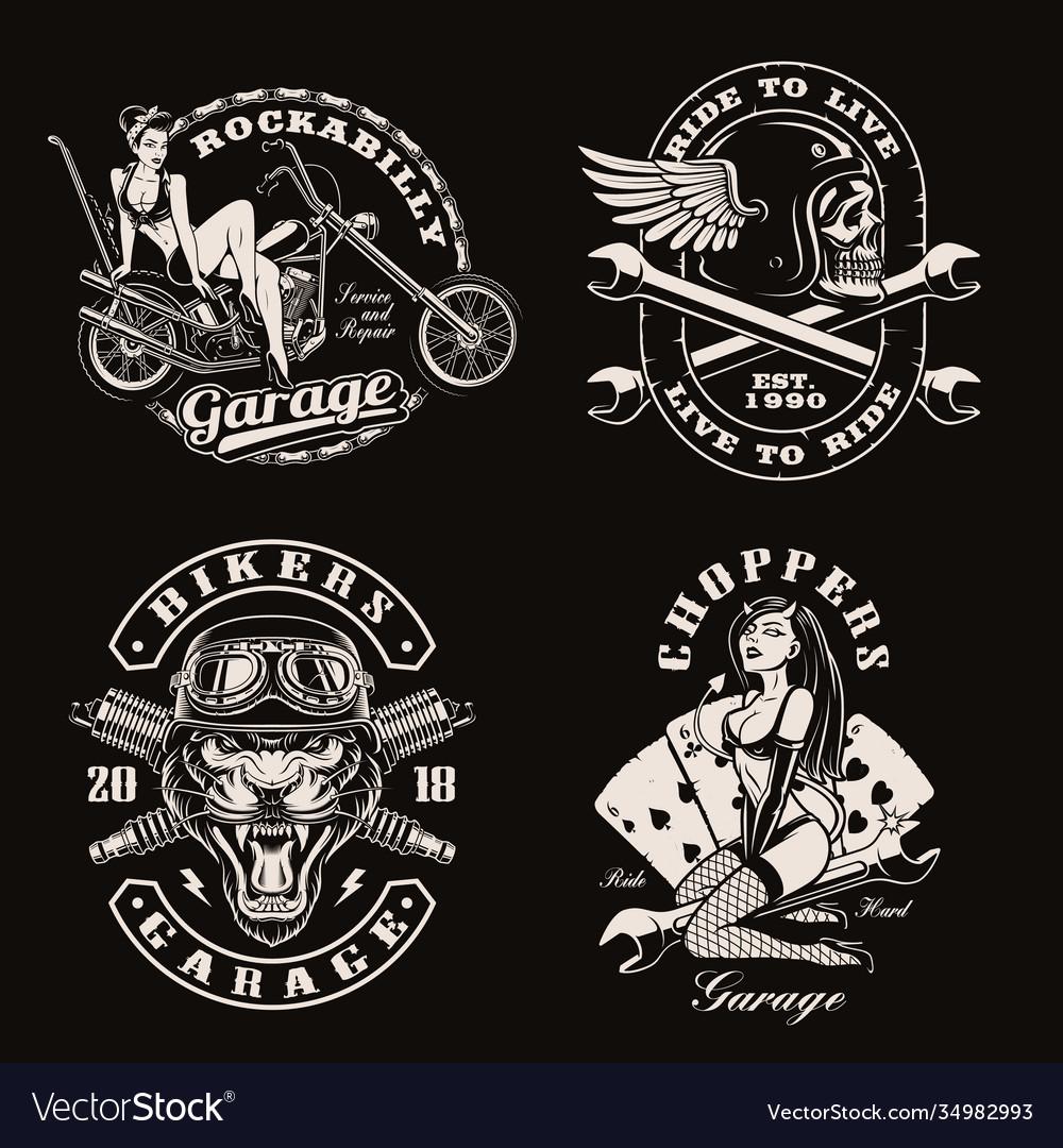 A set vintage biker