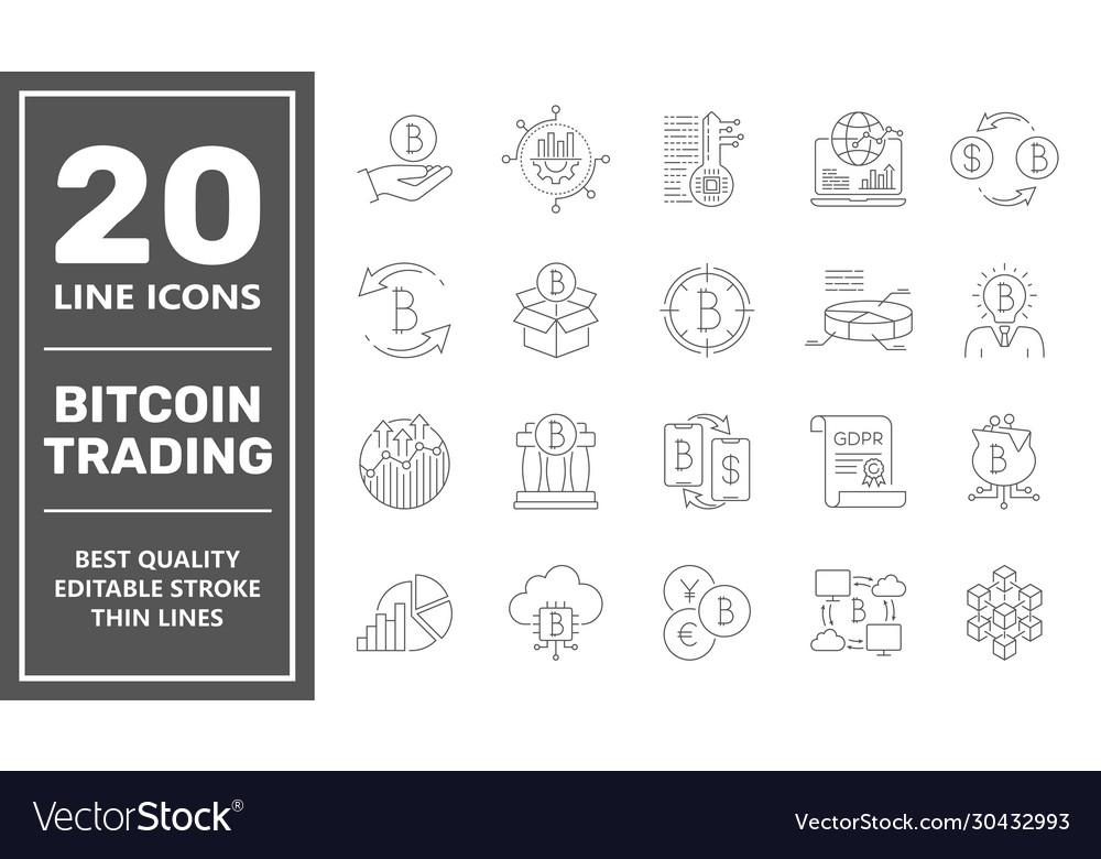 Bitcoin trading icons digital money bitcoin