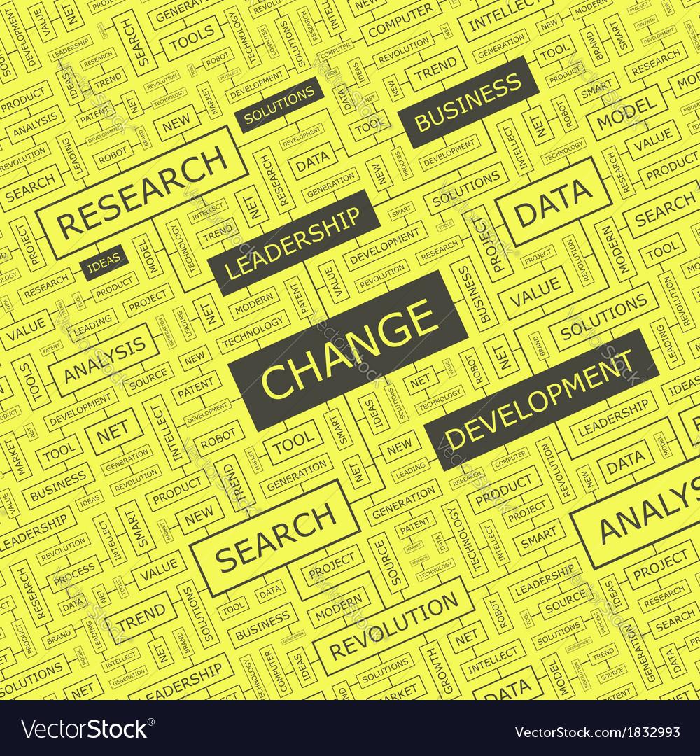CHANGE vector image