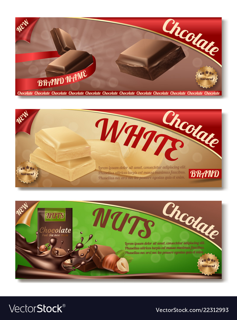 Collection of chocolate packaging