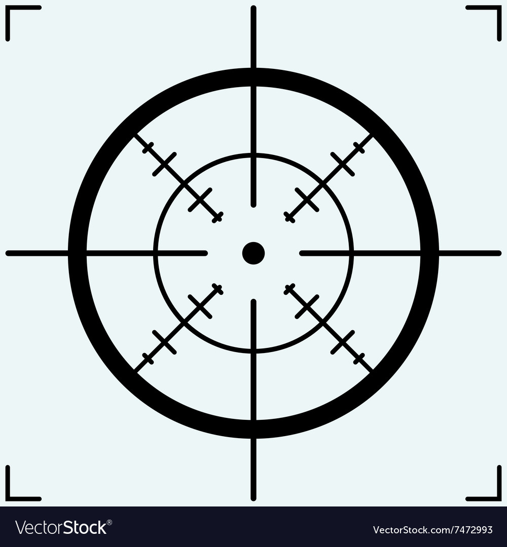 crosshair royalty free vector image vectorstock rh vectorstock com  crosshair vector free download