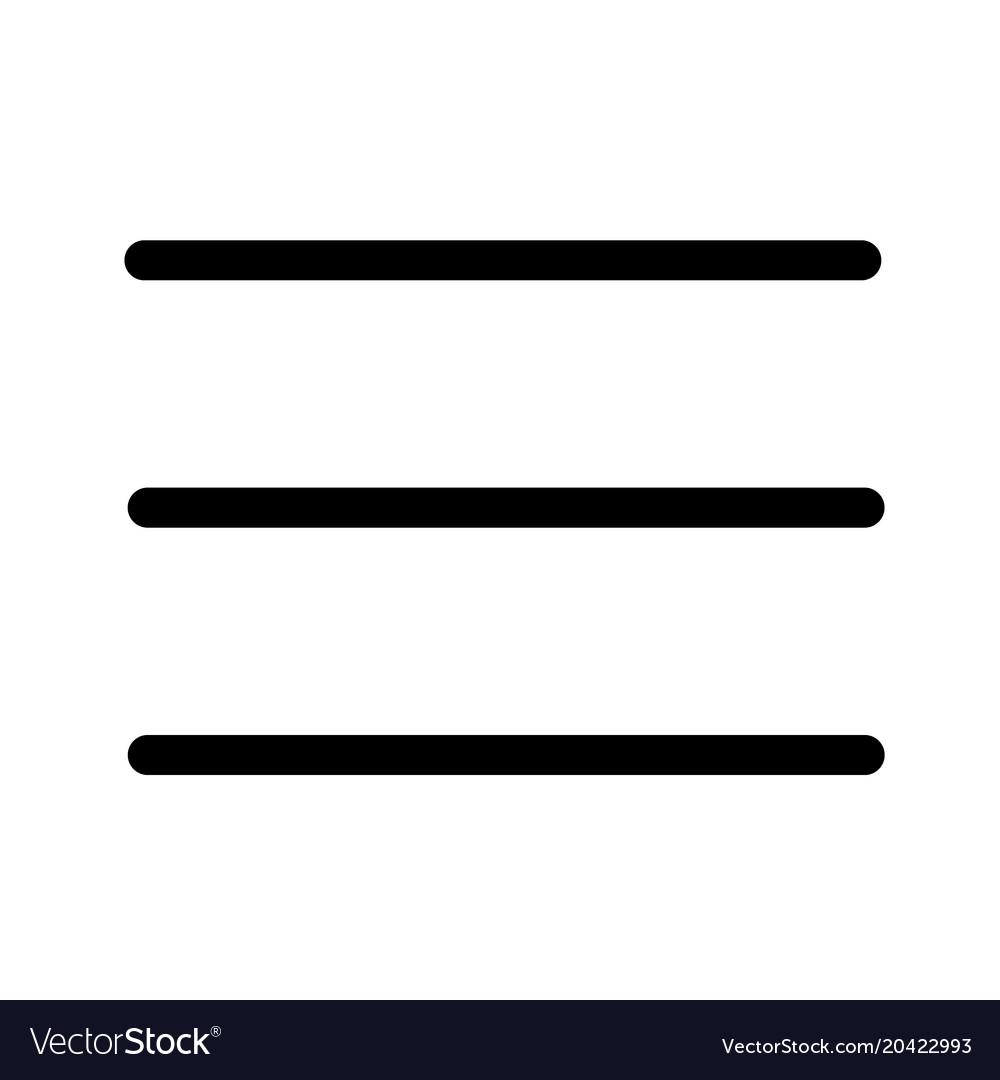 Expand menu icon on white background flat style