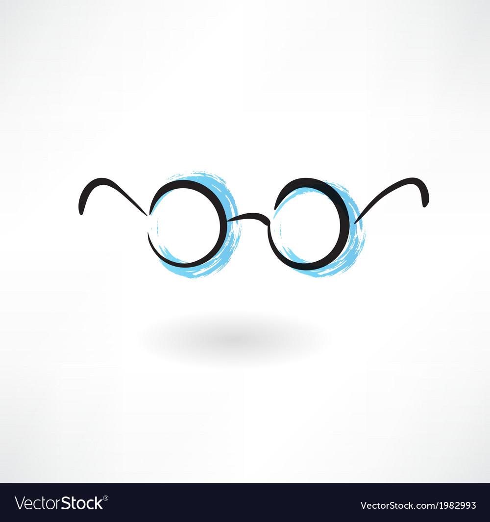 Eyeglasses grunge icon