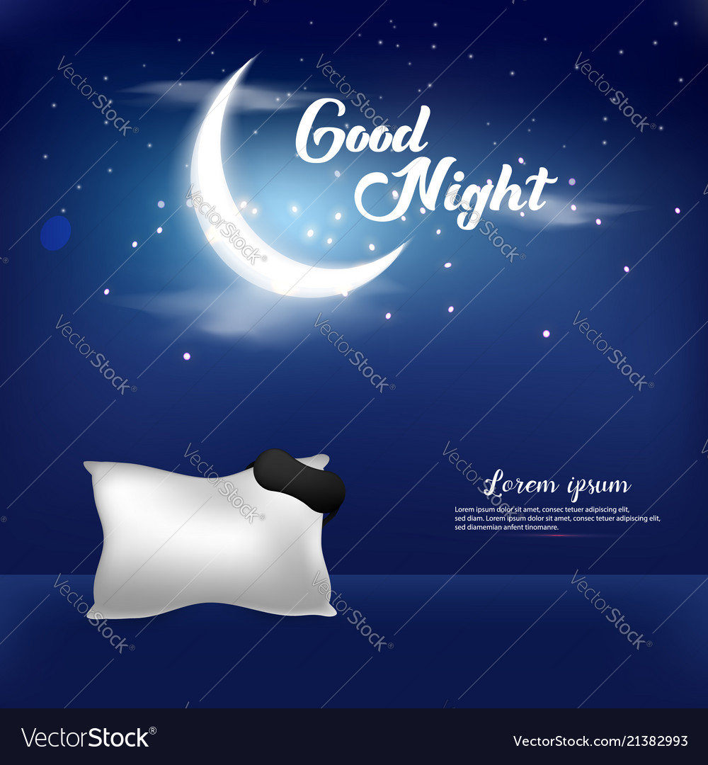 good night background template royalty free vector image