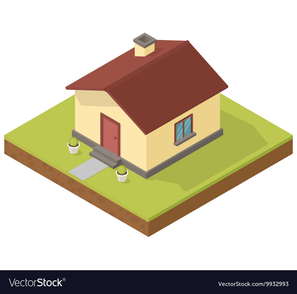 Vector Isometric Rooms Icon Stock Vector: Isometric House Icon Royalty Free Vector Image
