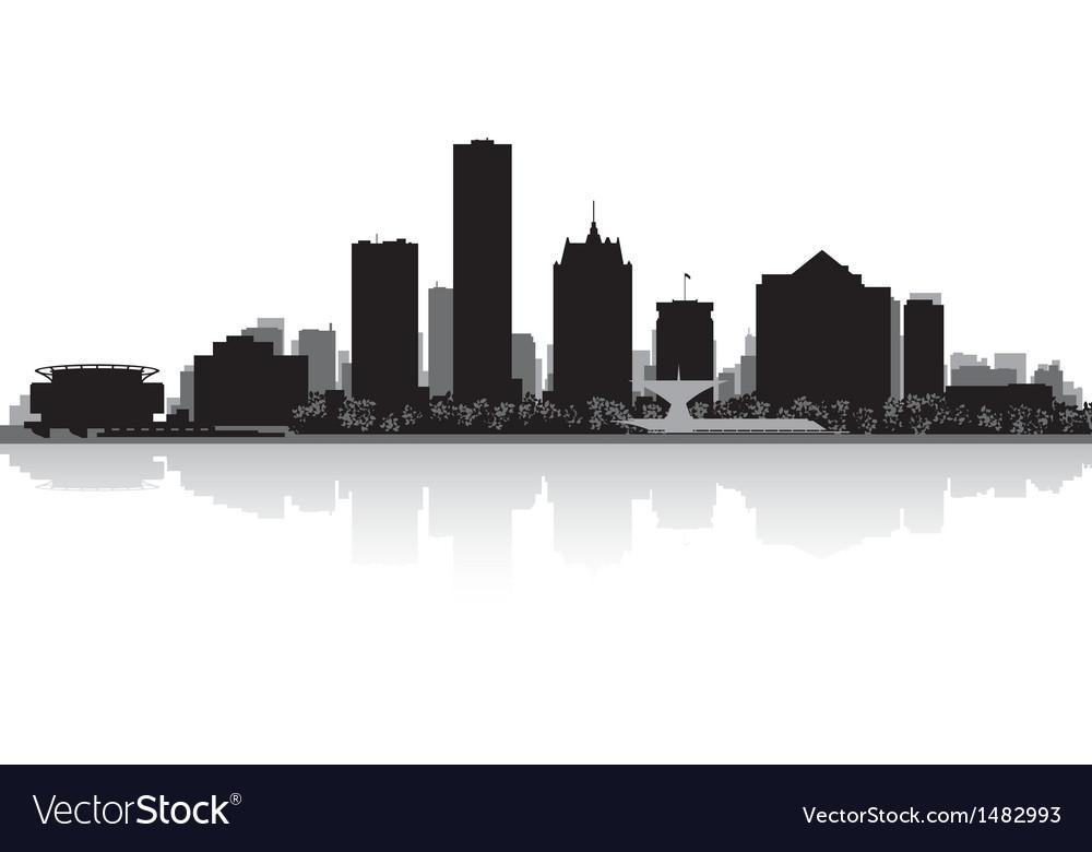 Milwaukee usa city skyline silhouette