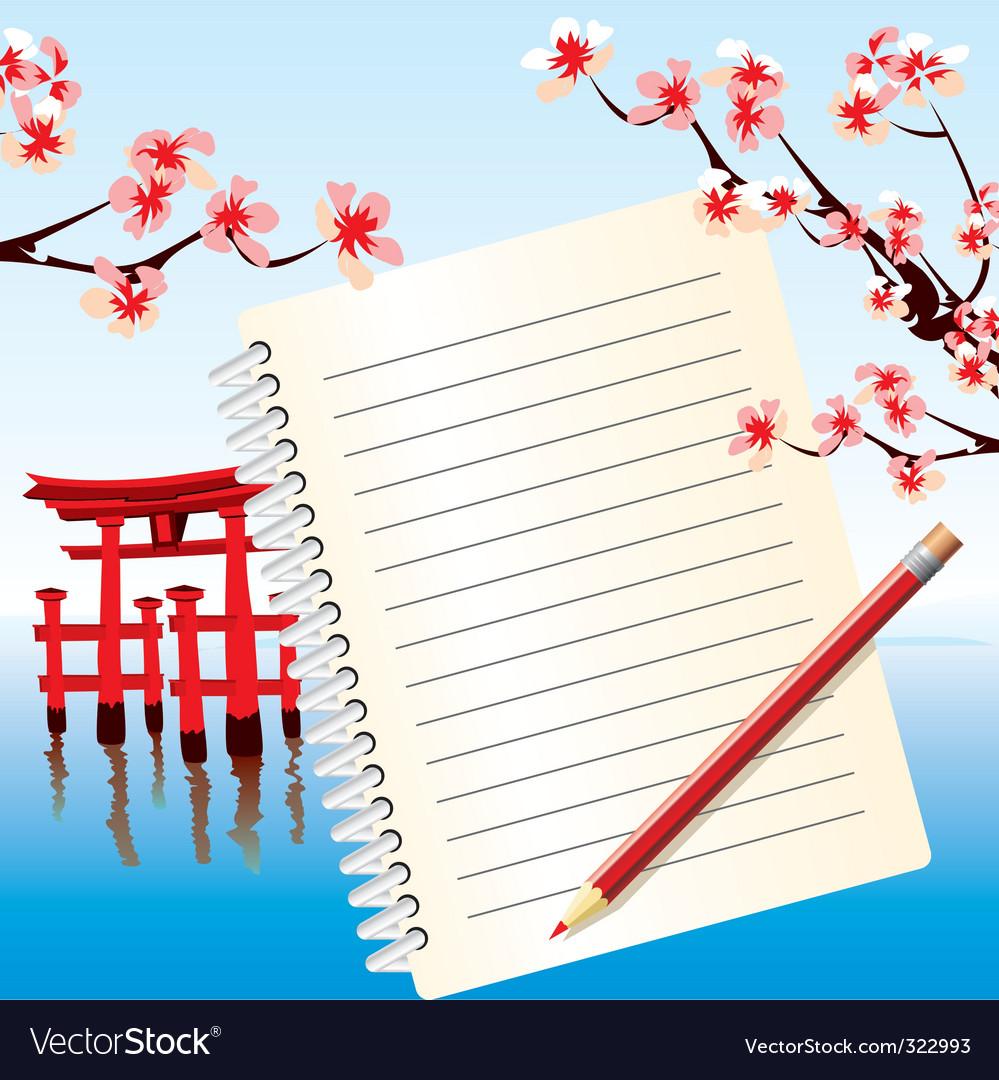 Notebook japan vector image