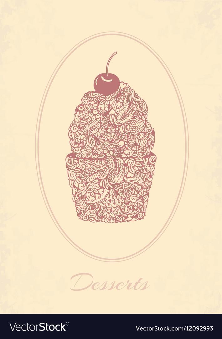 Sketch cupcake
