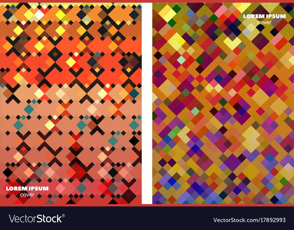 Square patterns design backgrounds vector image