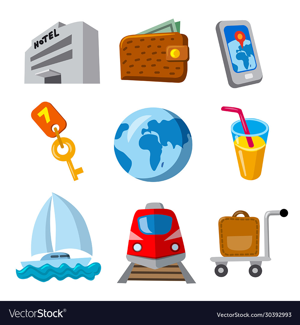 Travel and journey icons