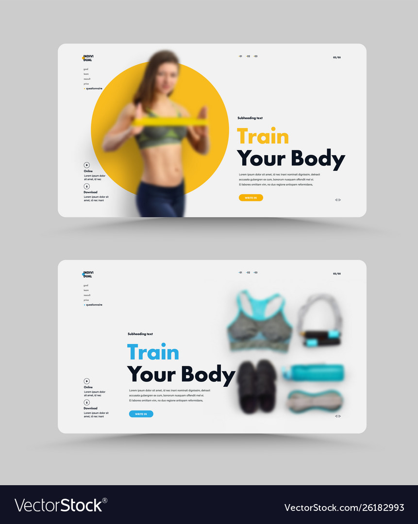 Ui design page website for the