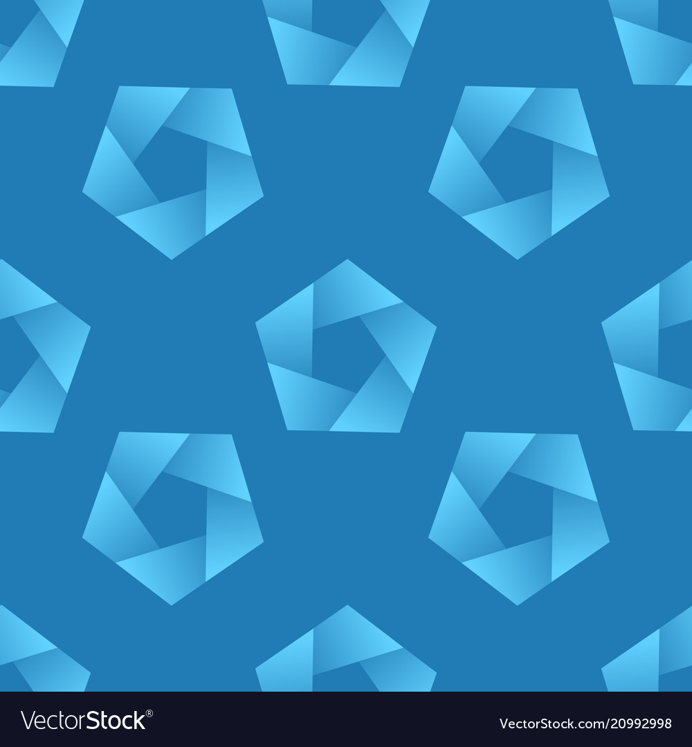 Abstract seamless pattern with pentagons
