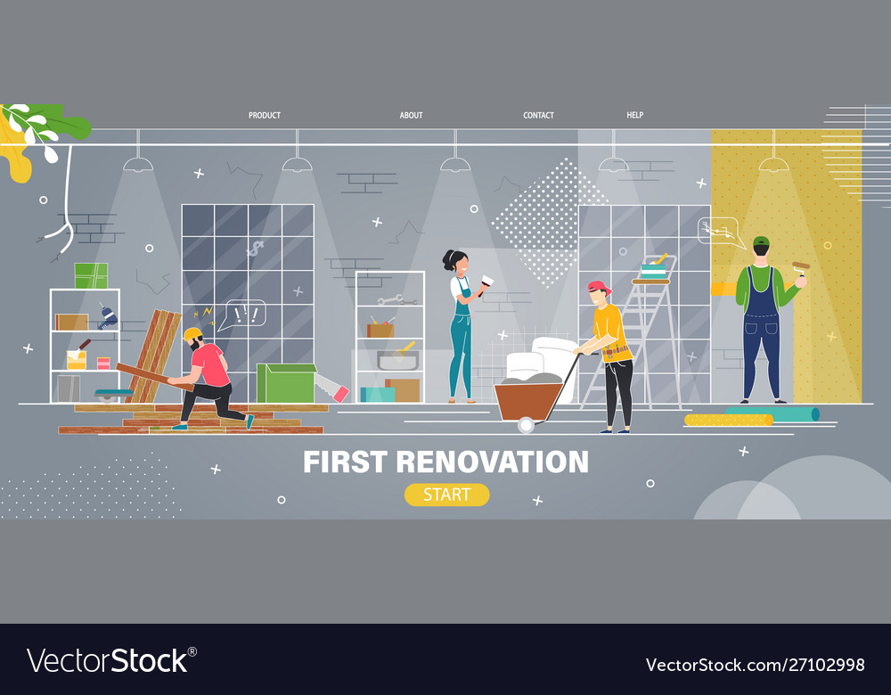 Apartment first renovation flat web banner