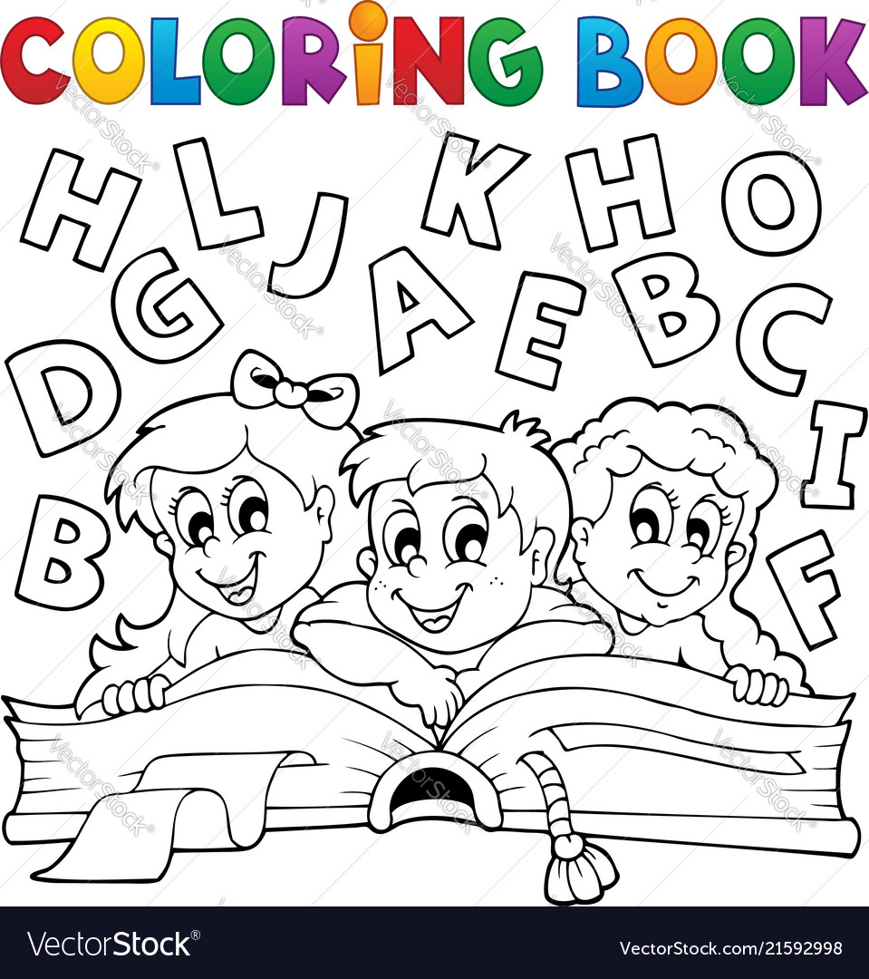 - Coloring Book Kids Theme 5 Royalty Free Vector Image