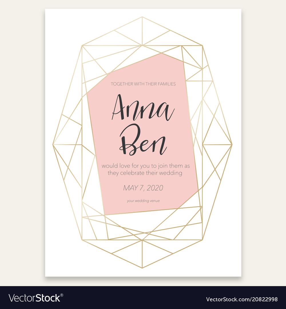 Geometric Card With Wedding Invitation