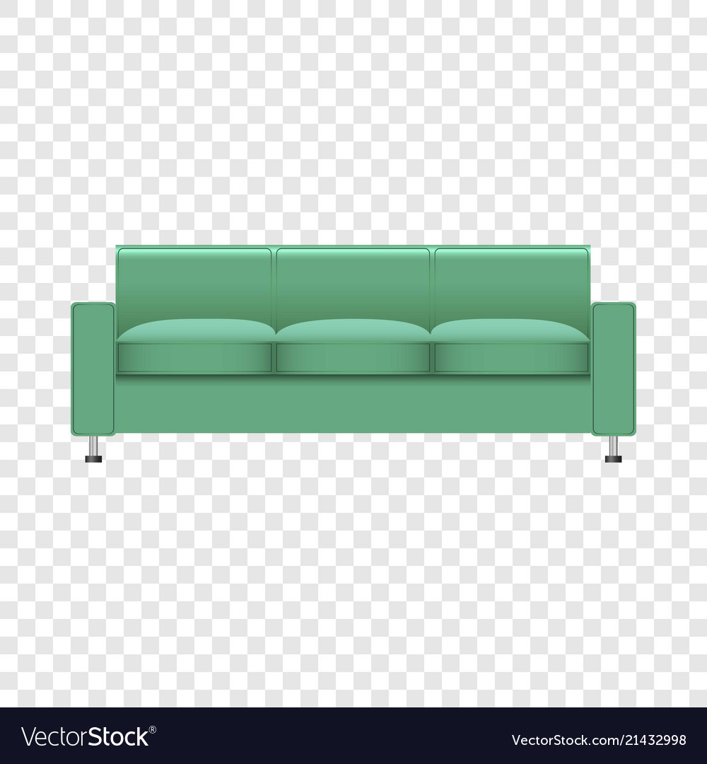 Großartig Sofa Mint Ideen Von Color Mockup Realistic Style Vector Image