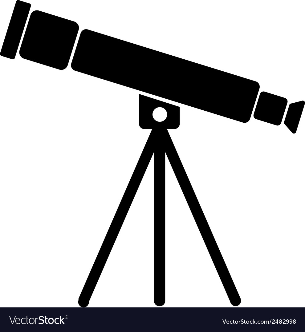 telescope icon royalty free vector image vectorstock vectorstock