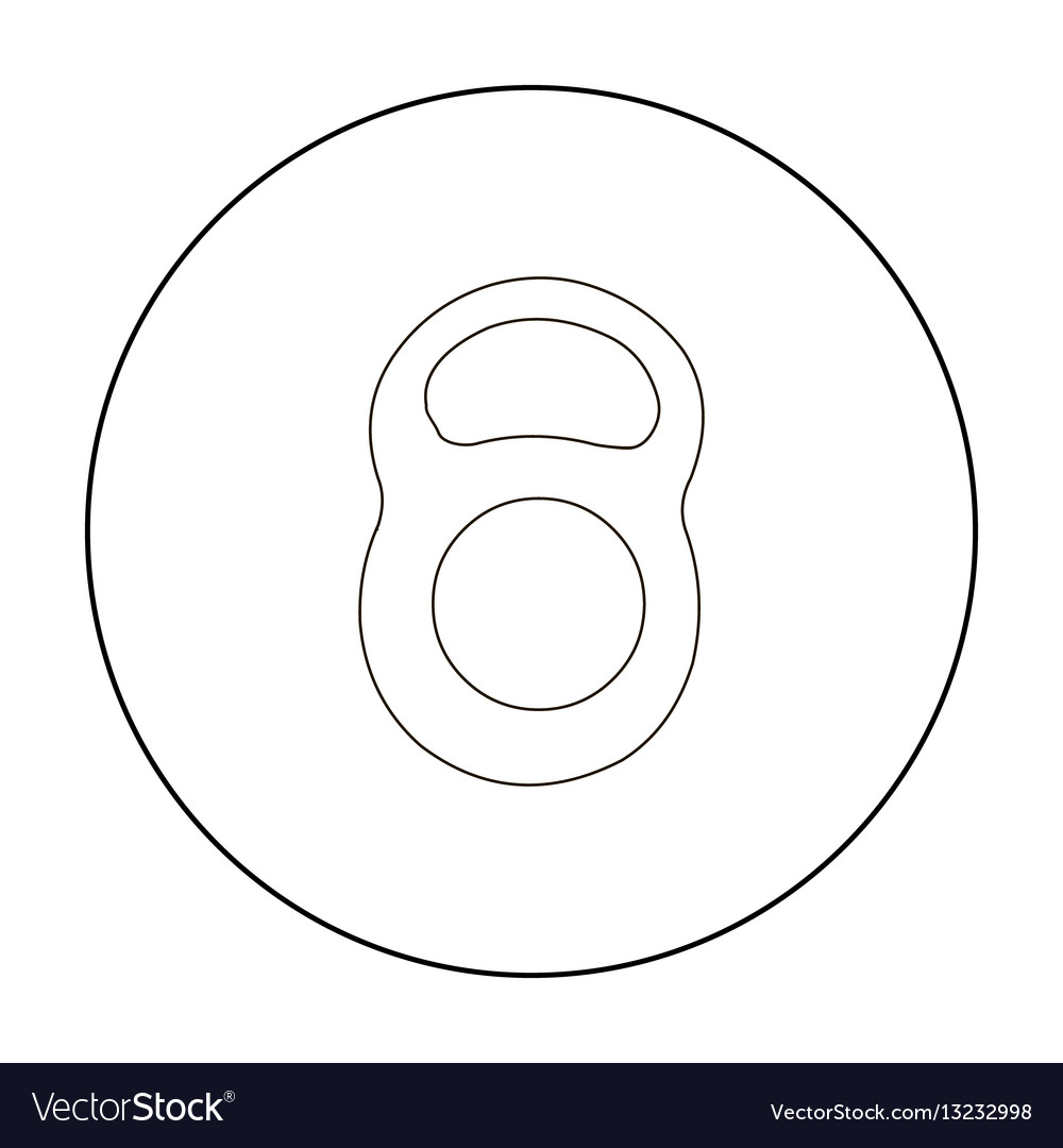 Weight icon outline single sport icon from the