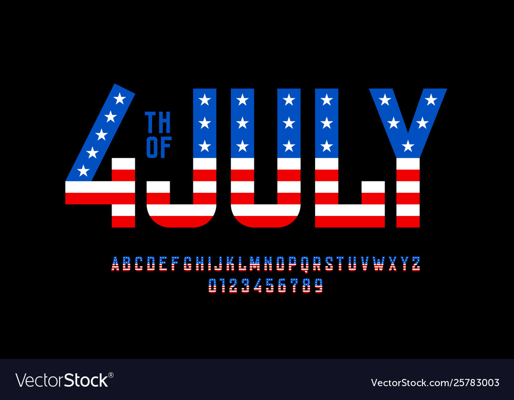 4th july usa independence day font