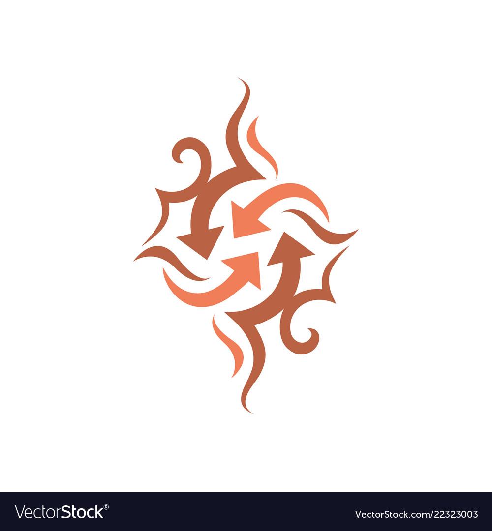 Arrow icon design symbol