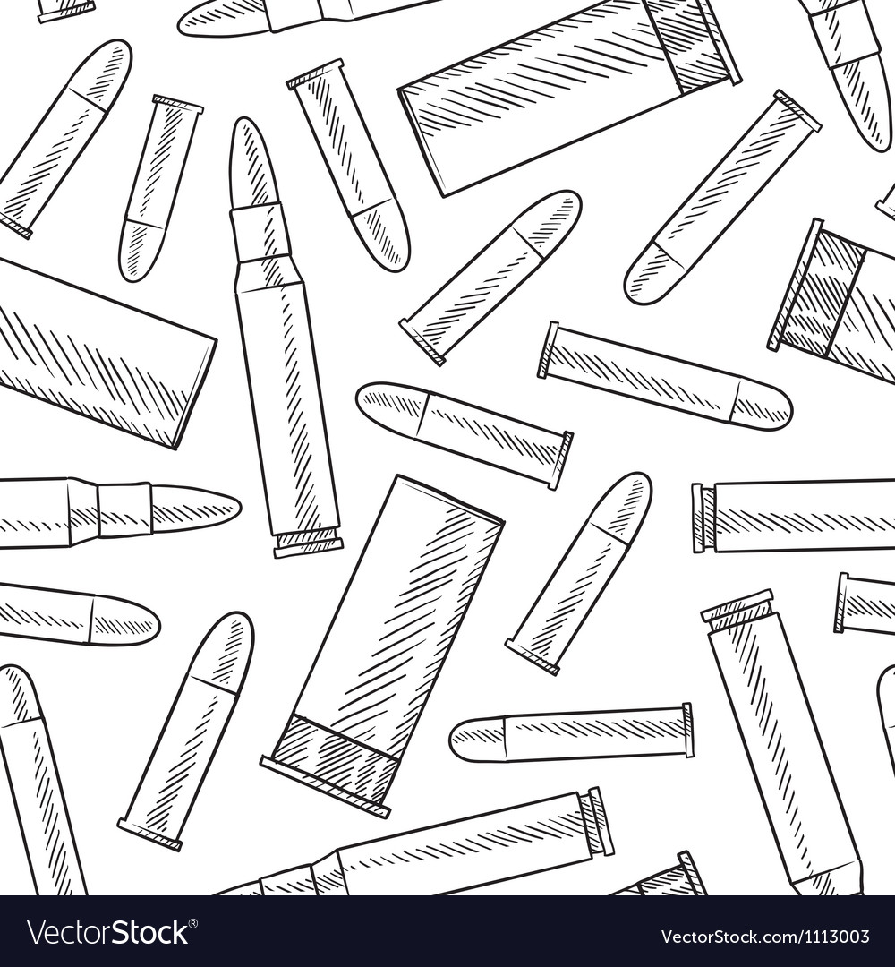 Doodle bullets patterns seamless