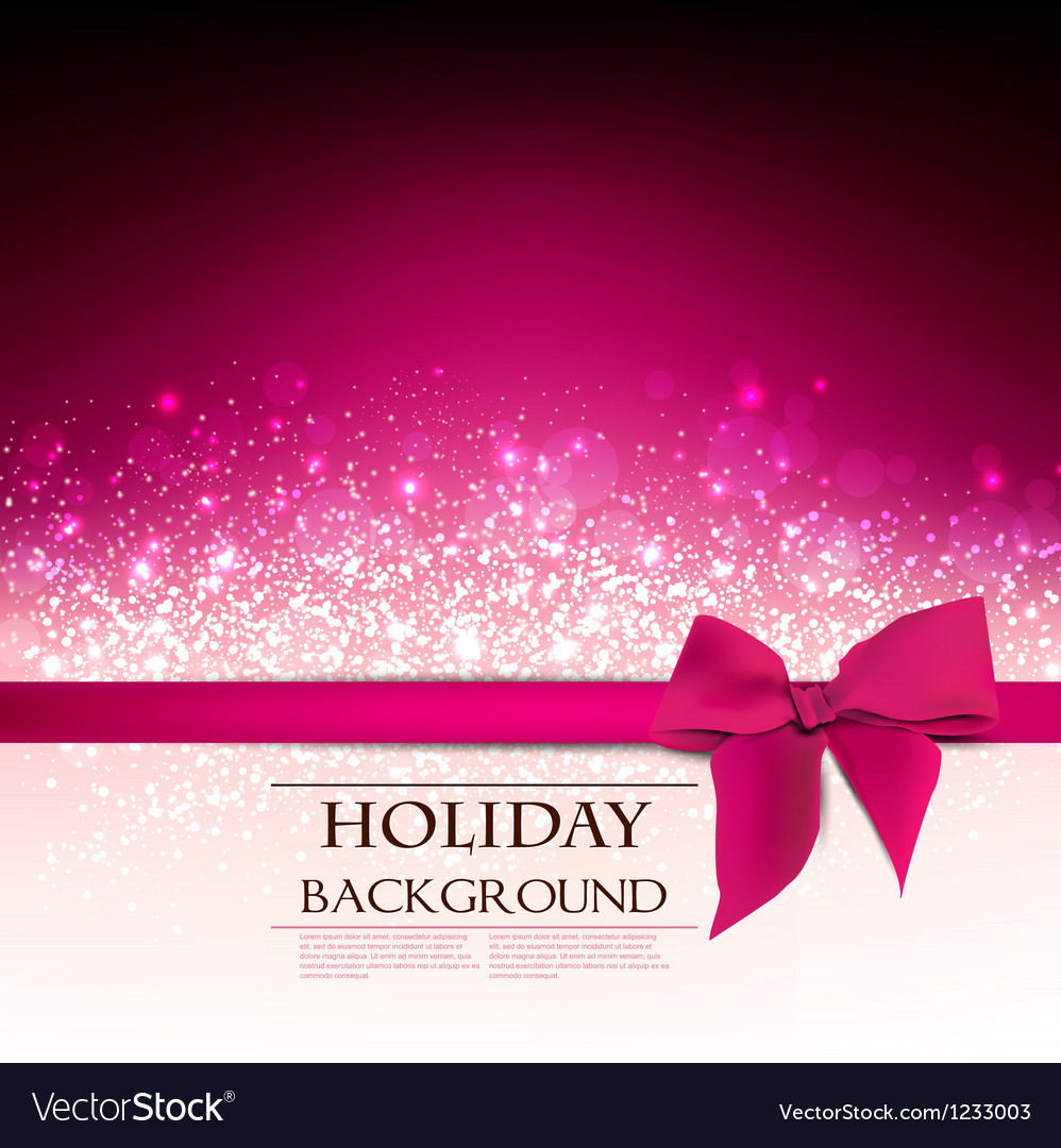 Elegant Holiday Red background with bow and place