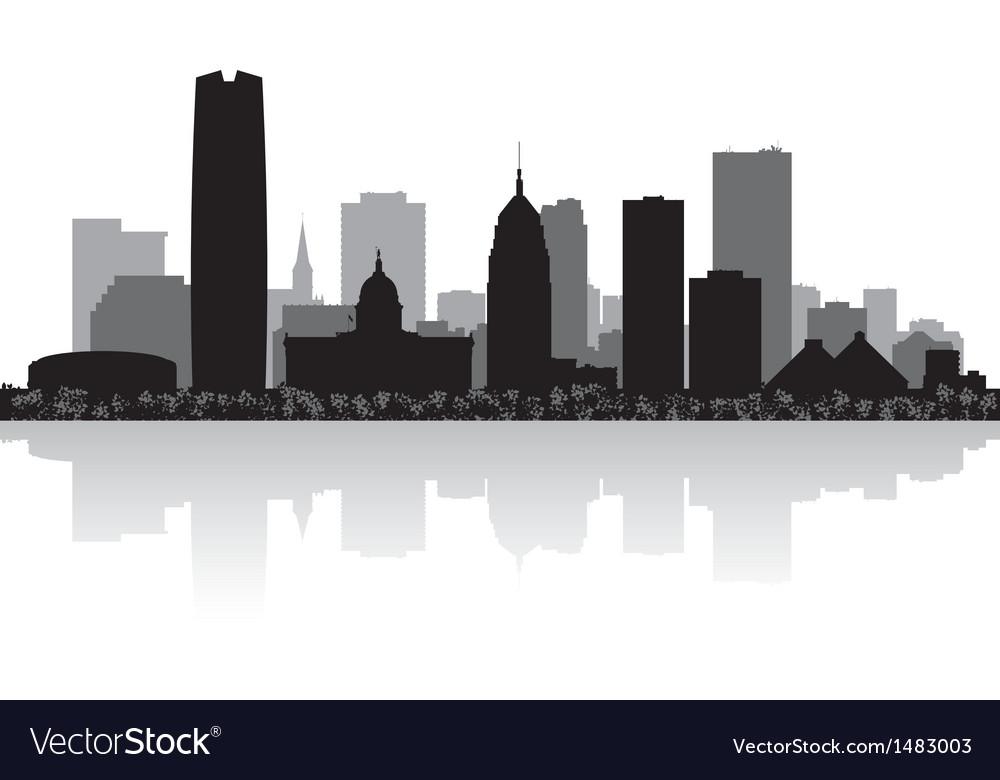 Oklahoma city USA skyline silhouette