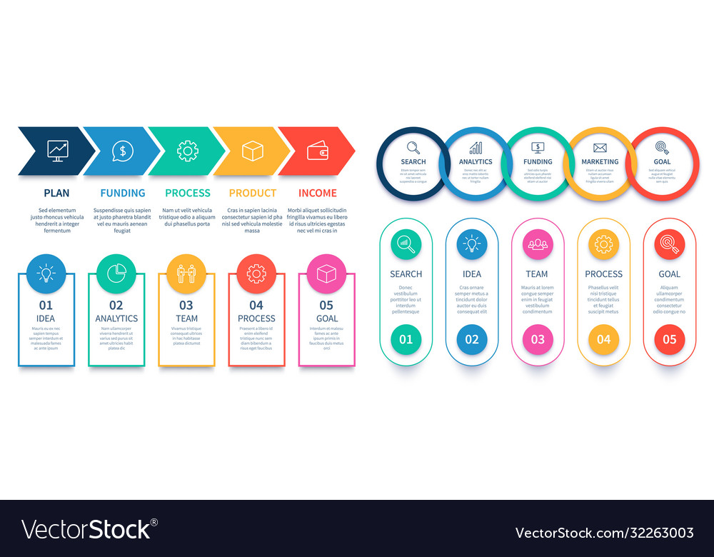 Process steps infographic chart business diagram