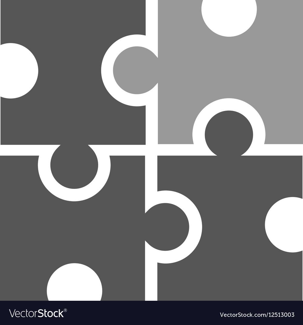 Puzzle like marketing icon