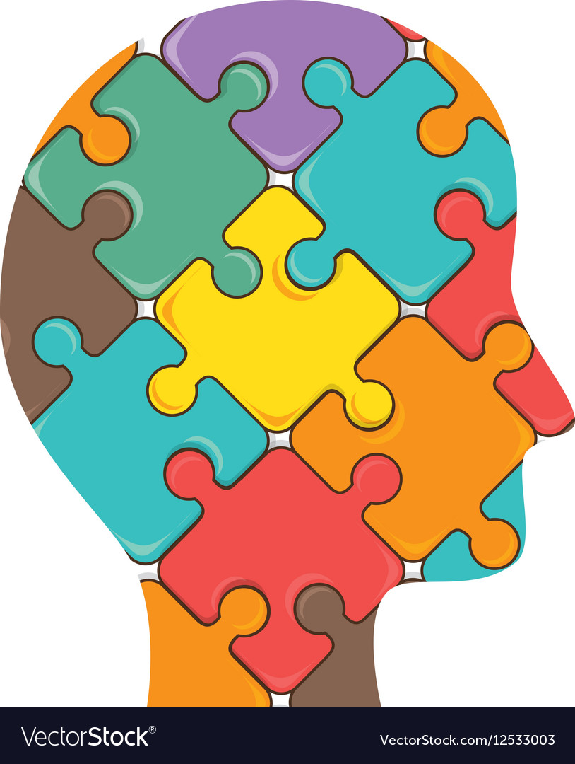 Puzzle pieces isolated icon