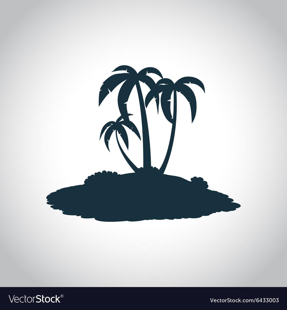 Tropical island black icon