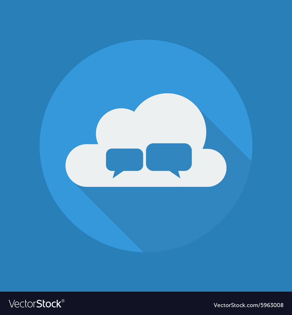 Cloud Computing Flat Icon Chat vector image