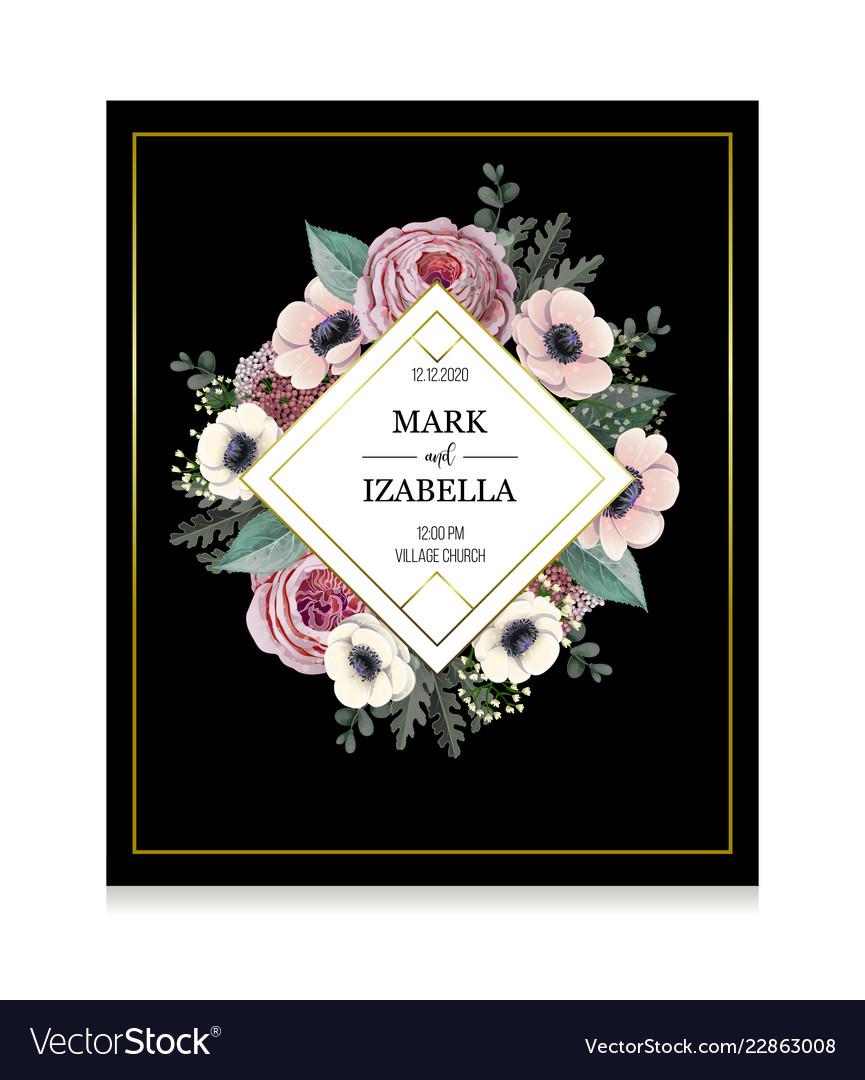 Greeting card or wedding invitation