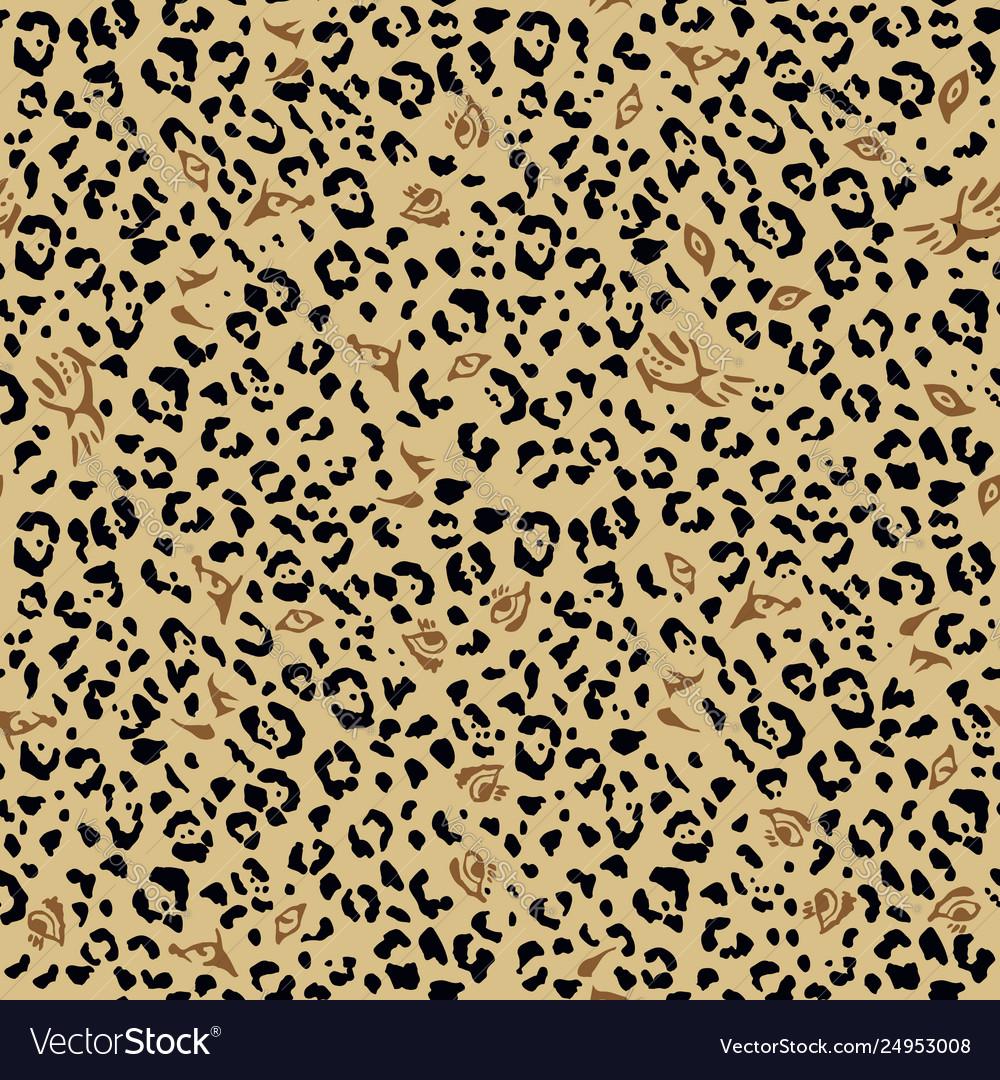 Leopard pattern design eyes wild cats
