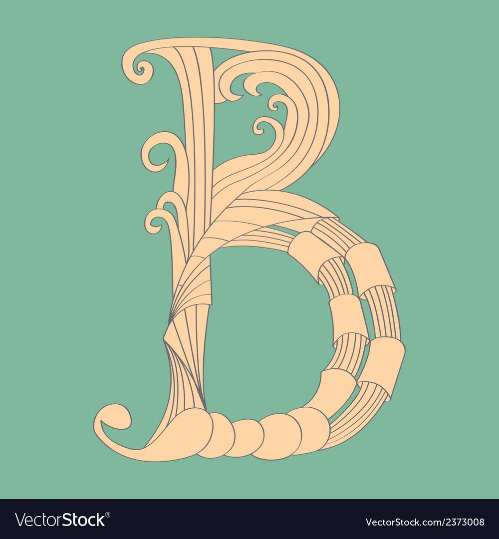 Letter B - Script