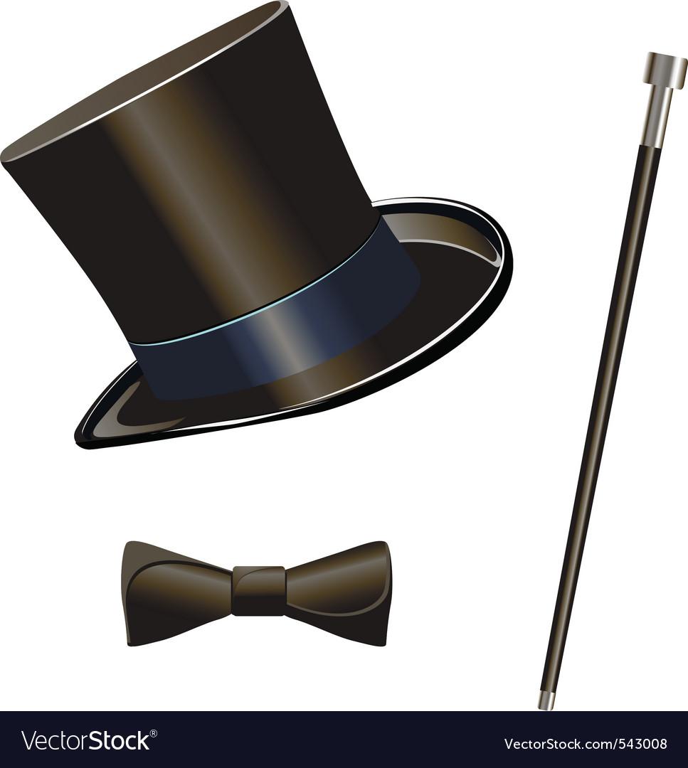 Top hat vectorimage