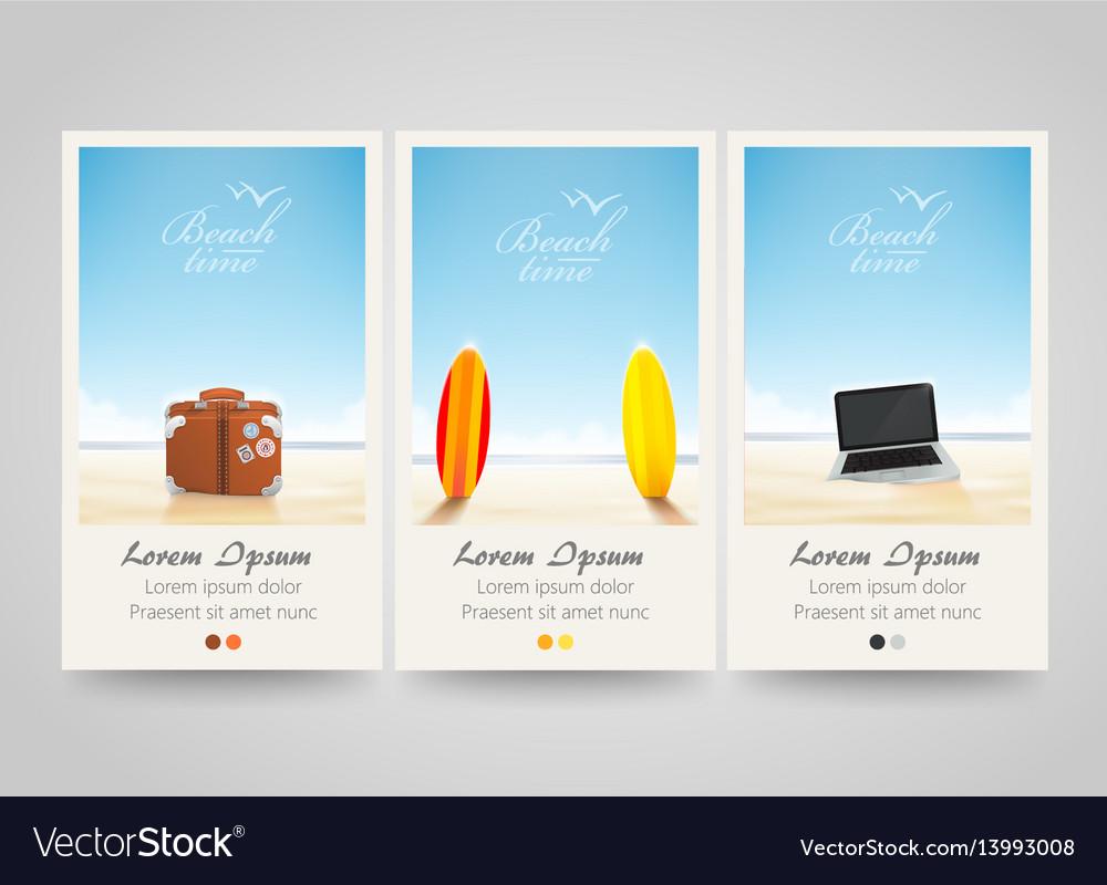 Travel banner set with surf laptop bag